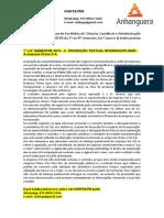 7° e  8° SEMESTRE 2019 - 2 - PRODUÇÃO TEXTUAL INTERDISCIPLINAR - A empresa Prime S A.