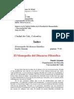 El monopolio del discurso filosófico.doc