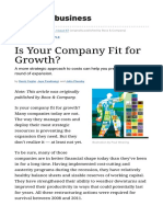 Is Your Company Fit for Growth