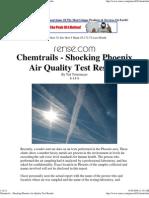 Chem Trails - Shocking Phoenix Air Quality Test Results