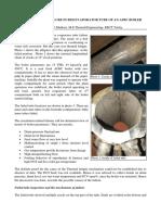 Thermal Fatigue Failure in a FBC Boiler