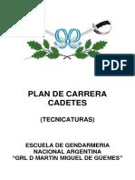 Plan de carrera cadetes tecnicatura