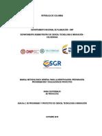 Manual Metodologico Proyectos Fcti-sgr2016