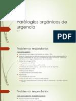 7Patologías Orgánicas de Urgencia