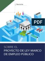 Folletos sobre el proyecto de Ley Marco de Empleo Público