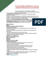 Paquetes de Software Comercial Que Se Usan en La Administración de Un Almacén