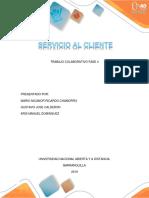 Trabajo Colaborativo Fase 4 SERVICIO AL CLIENTE UNAD