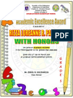 Academic Excellence 3rd Quarter