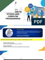 Modul Pengenalan Python