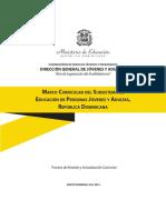 Marco Curricular del Subsistema de Educación de Personas Jóvenes y Adultas, República Dominicana