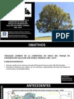 Monitoreo de cambios en la cobertura vegetacional del Paisaje de Conservación Valle Río San Pedro.