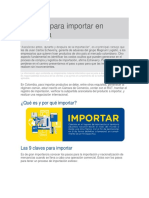 Guía Para Importar en Colombia