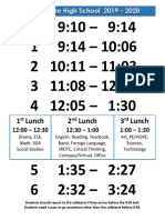 2019-20 gbhs bell schedule and calendar