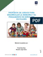 Propuesta de Juegos Para Desarrollar La Memoria y El Pensamiento en Niños Pre Escolares.