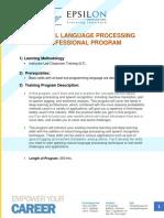 Natural Language Processing Professional Program