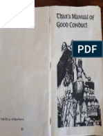 Thar's Manual of Good Conduct Pages 1 and Back Cover