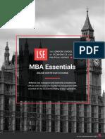 Lse Mba Essentials Online Certificate Course Prospectus