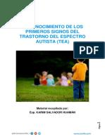 Reconocimiento de Los Primeros Signos Del Trastorno Del Espectro Autista (Tea)