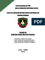 Silabo Codigo Penal Militar Policial