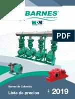 lista de precios Barnes 2019