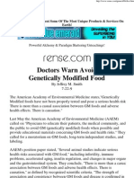 Doctors Warn Avoid Genetically Modified Food