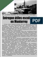 06-08-19 Entregan útiles escolares en Monterrey