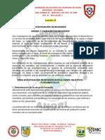 INVESTIGACION DE INCEDIOS