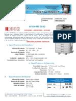 Aficio MP5002 Ficha Tecnica