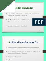 ARCILLAS SILICATDAS