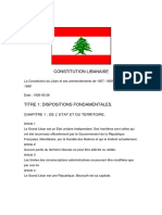 Constitution Du Liban