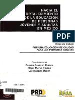 Hacia el Fortalecimiento de la EPJA en México