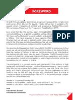 PPP Manifesto