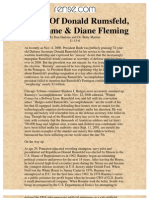 Legacy of Donald Rumsfeld, Aspartame & Diane Fleming