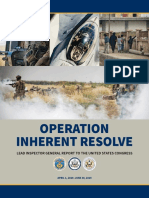 Lead Inspector General for Operation Inherent Resolve | Quarterly Report to the United States Congress | April 1, 2019 – June 30, 2019