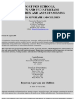 Report on Aspartame and Children