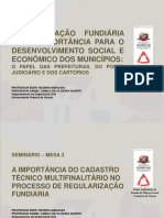 Palestra 07 - A Importância Do CTM No Processo de Regularização Fundiária - Drs- Eder Teixeira Marques e Daniel Camilo