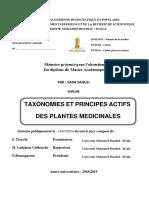Taxonomie et pricipes actifs des plantes médcinalales (2019)pdf