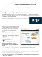 Part II 11 Steps to Structuring a Science Paper Editors Will Take Seriously