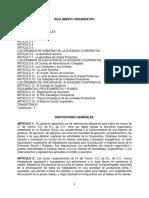 Reglamento Organizativo de LF Del Centro, S.C. de R.L. de C.V.