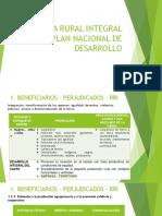 Reforma Rural Integral y Plan Nacional de Desarrollo