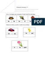 Evaluación Consonante t