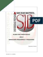 Silabo Semiología Psiquiatrica y Psiquiatria 2019-I UPSJB