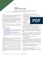 C708-08 Standard Specification for Nuclear-Grade Beryllium Oxide Powder
