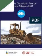 Informe de disposición final de residuos colombia