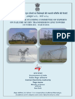 CEA Report on Failure of Transmission Towers - Oct 2016 to Mar 2018
