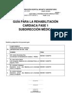 GUÍA PARA LA REHABILITACIÓN CARDIACA FASE 1