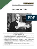Guía Chile entre 1920 y 1958