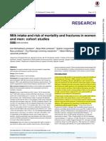 Milk intake andrisk ofmortality andfractures in women and men