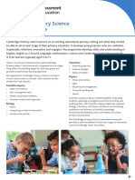 25128 Cambridge Primary Science Curriculum Outline