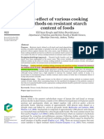 The Effect of Various Cooking Methods